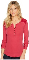 Lucky Brand Embroidered Thermal Top Women's Clothing