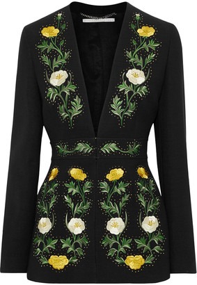 Stella McCartney Embellished Wool-blend Blazer
