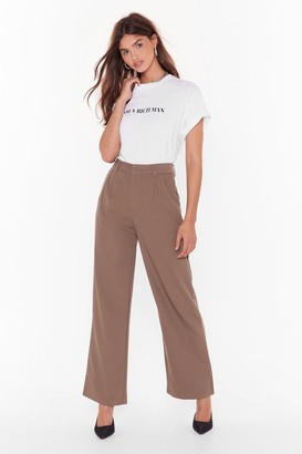 Nasty Gal When It Suits You High-Waisted Wide-Leg Pants