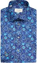 Eton Floral contemporary-fit cotton shirt