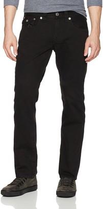 True Religion Men's Straight Leg Jean with Flap Back Pockets