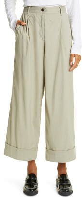 Rag & Bone Ivy Wide Leg Linen Blend Pants