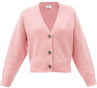 Allude V-neck Cashmere Cardigan - Pink