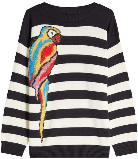 Marc Jacobs Striped Parrot Pullover in Wool