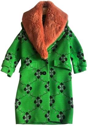 Miu Miu Green Wool Coat for Women