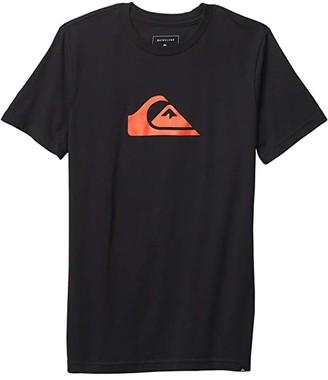 Quiksilver Comp Logo Tee (Big Kids) (Black) Boy's Clothing