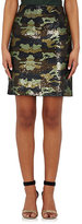 L'Agence Women's Camouflage Sequined Miniskirt-GREEN, NO COLOR