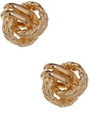 Candela 14K Yellow Gold Rope Textured Love Knot Stud Earrings