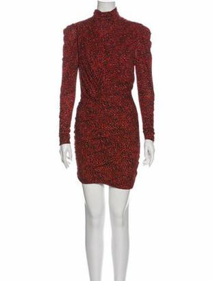 Isabel Marant Printed Mini Dress Red