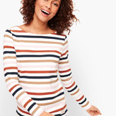 Talbots Authentic Tee - Rose Stripe