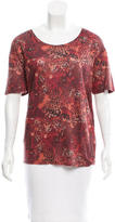 IRO Abstract Print Linen Top w/ Tags