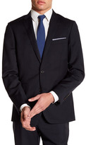 Brooks Brothers Notch Lapel Two Button Navy Wool Jacket