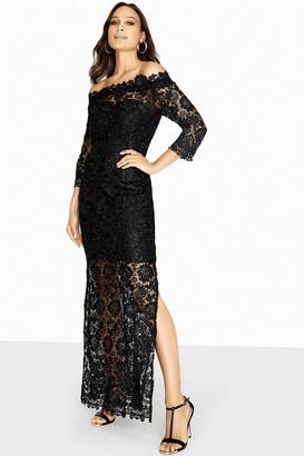 Paper Dolls Malvik Sequin Crochet Maxi Dress