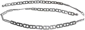 Christian Dior Silver Metal Belts
