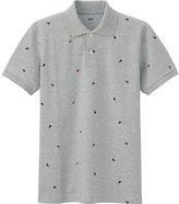 Uniqlo Men's Dry Pique Sailboat Print Polo Shirt