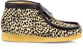 Clarks Cheetah-Print Calf Hair Wallabee Boots
