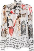 Dolce & Gabbana cat print blouse