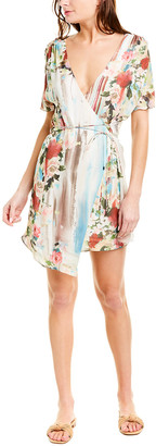 Haute Hippie French Riviera Silk Wrap Dress
