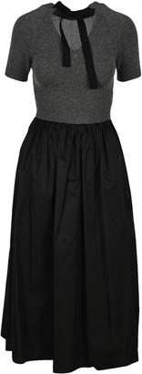 Prada Pleated Midi Dress