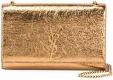 Saint Laurent Kate Monogram Medium Metallic Leather Shoulder Bag