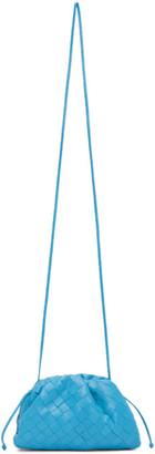 Bottega Veneta Blue Intrecciato Small The Pouch Clutch
