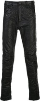 Poème Bohémien leather skinny fit trousers