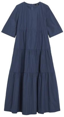 Max Mara Cotton-Blend Smock Dress