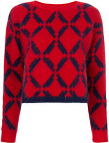 Versace Argyle knit jumper