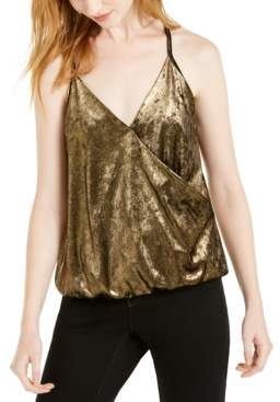 INC International Concepts Inc Velvet Surplice Camisole Top, Created For Macy's