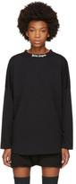 Palm Angels Black Long Sleeve Logo T-shirt