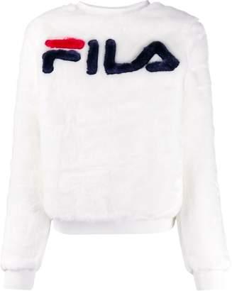 Fila textured central logo sweatshirt