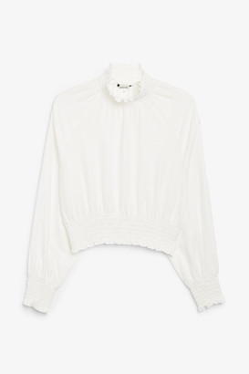 Monki Long sleeve crop top