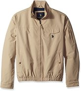 U.S. Polo Assn. Men's Micro Peached Windbreaker Jacket with Fleece Lining