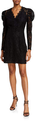 WAYF Spencer Puff-Sleeve Mini Dress