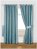 Very Thermal Faux Silk Blackout Eyelet Curtains