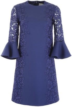 Valentino Lace Sleeve Shift Dress