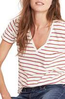Madewell Women's Whisper Cotton Stripe V-Neck Tee