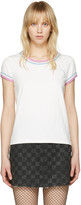 Marc Jacobs Ivory Rainbow 70s T-shirt