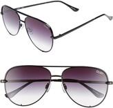 Thumbnail for your product : Quay High Key Mini 57mm Aviator Sunglasses