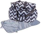 Trend Lab Chevron Deluxe Duffle Diaper Bag, Black/Grey by