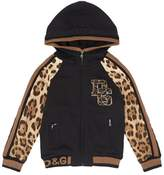 Dolce & Gabbana Leopard Printed Zip-Up Hoodie