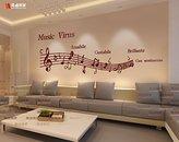 PinWei Note music notation acrylic 3D stereo wall stickers nursery living room sofa Dance Studio