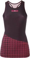 adidas by Stella McCartney houndstooth tank top - women - Nylon/Polyester/Spandex/Elastane - S
