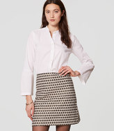 LOFT Petite Diamond Jacquard Shift Skirt