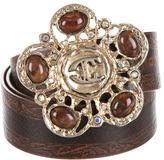 Just Cavalli Stone-Embellished Leather Belt