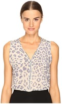 The Kooples Sport Silk Leopard Casual Print Tank Top Women's Sleeveless