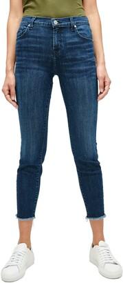 Seven London Frayed Ankle Skinny Jeans