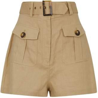 Zimmermann Linen Suruya Safari Shorts