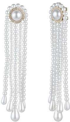 Carolee Simulated Pearl Tassel Earrings