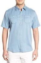 Tommy Bahama Men's 'New Twilly' Island Modern Fit Short Sleeve Twill Shirt